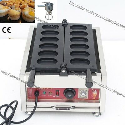 Commercial Nonstick Electric Korean Egg Cake Gyeranbbang Machine Maker w/ Tool