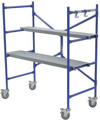 Rolling Scaffold Portable 500 lb Load Capacity Tower Deck Multi-Use Scaffolding