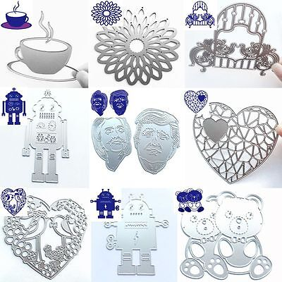 Bow Bear Metal Stencil Embossing Card Album Cutting Dies Scrapbooking