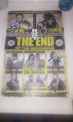 WWE NXT Takeover The End of the Beginning Poster Signed Autographed