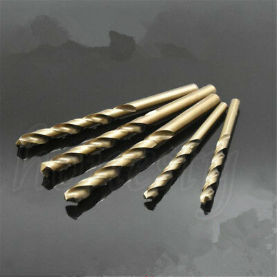 5/10X HSS Cobalt Twist Drill Bit Set Φ 1.0mm-6.0mm Special For Stainless Steel
