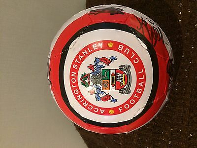 Accrington Stanley Fc Signed Ball- 2011-13 Ideal Xmas/ Birthday Gift
