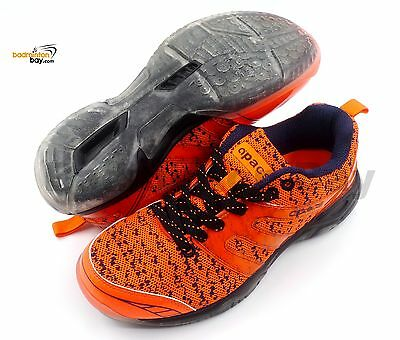 Apacs Cushion Power 072 Orange Badminton Shoes With Transparent Outsole