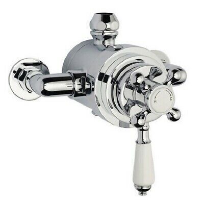 Premier 130mm Traditional Dual Exposed Thermostatic Shower Mixer Valve