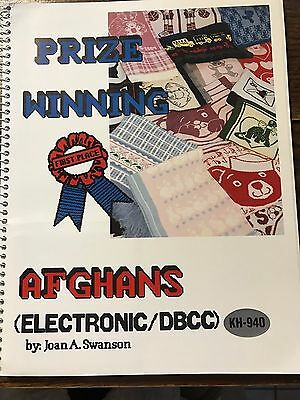 1991 Prize Winning Afghans Pattern Book w/Disk Brother Knitting Machine KH-940