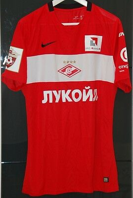 Spartak Moscow (Russia) Match Worn Home Shirt New Season 2016-17