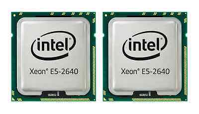 Matched Pair Intel Xeon E5-2640 2.50GHz Hex Core 15M 7.20GT/s Dual QPI SR0KR CPU