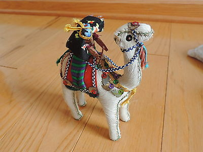 Vintage Christmas Camel w/ Wiseman Nativity Figure