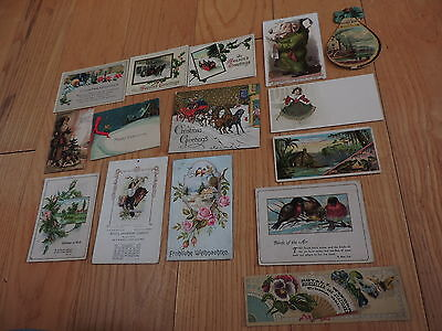 Victorian Paper Christmas Trade Cards Calendar & More (e6)