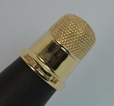 Antique English Hallmarked 9ct Gold Ladies Thimble d1613