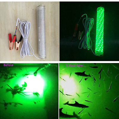 DC 12V LED Underwater Submersible Night Fishing Green Light Tackle Water Squid