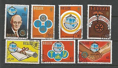 Belize 1981 75th Anniversary of Rotary International Complete Set S G 606-612