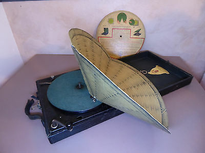 Gramophone phonographe valise à disque 78 tours Polly Portable USA