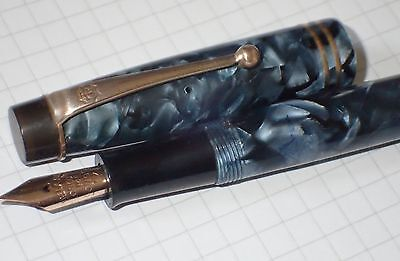 Vintage Onoto The Pen - Blue Marble -  Good Condition