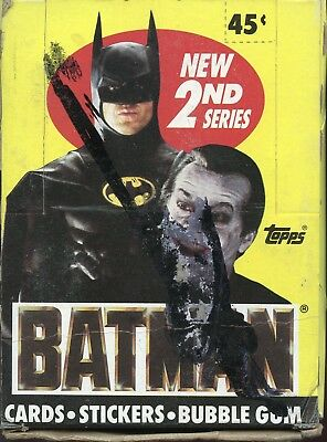 Batman 1989 Movie - Trading Card Box Series 2 from Topps 36 packs   black X-out