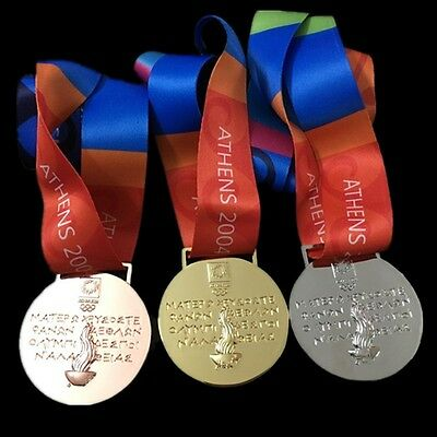 Athens 2004 Olympic Gold, Silver, Bronze Medal Complete Set - Replica -Brand New