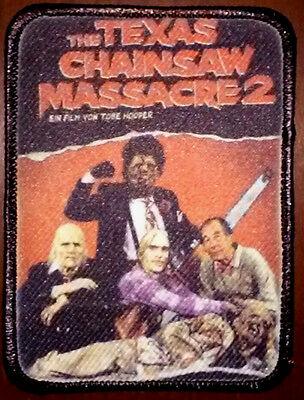 The Texas Chainsaw Massacre 2 - Full Color PATCH - HORROR Leatherface Chop Top