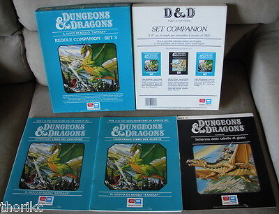 D&d - Tsr - Set 3 Regole Companion - Ed. Italiana - Dungeons&dragons - Completo