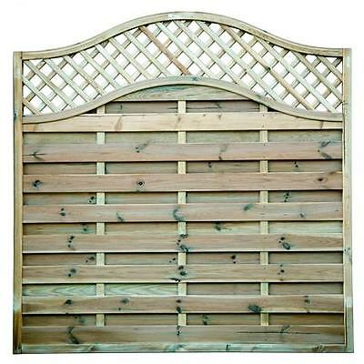 1 x 4ft high x 6ft wide Omega decorative garden fence fencing panel trellis top