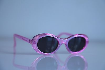 Crystal Pink Iridescent Frame, Dark Oval Lenses, Size SMALL