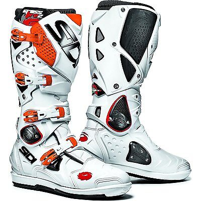 Bottes motocross SIDI CROSSFIRE 2 SRS taille 41 blanche/orange *NEUF*