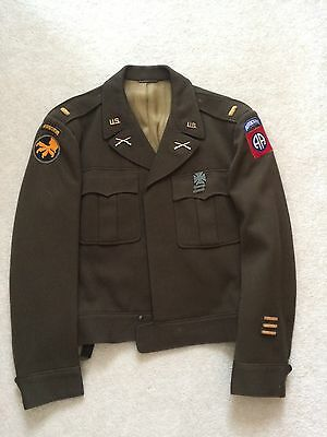 Original Tailor Made Ww2 U.s. Army 82Nd & 17Th Airborne Officers Ike Jacket