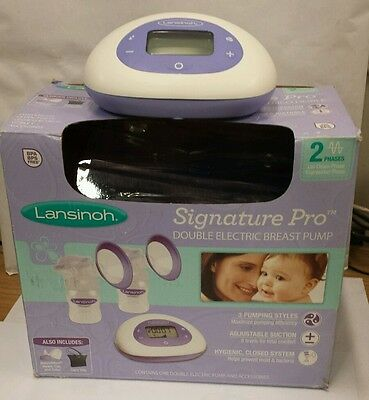 LANSINOH Signature Pro Double Electric BPA Free Breast Pump, Used