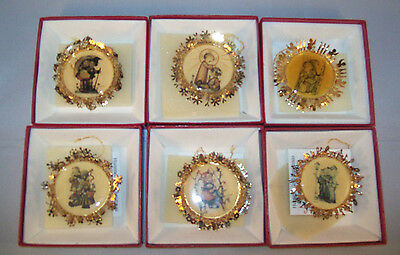 Hummel Gold Christmas Double Sided Christmas Ornament Collection Set of 6