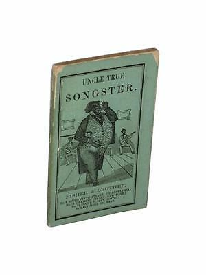 Uncle True Songster African American Advertising Minstrels Americana Song Book