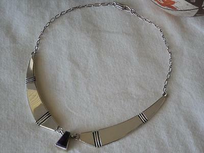 Gorgeous Nusie Henry Navajo Contemporary Sugilite 925 Sterling Silver Necklace