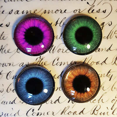 Glass Eye Cabochons x6 Jewellery making, model making, scrapbooking or minatures