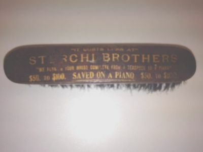 """Vintage Brush,Sterchi """"$50 to $100 saved on a piano"""" (Knoxville,Tenn)"""
