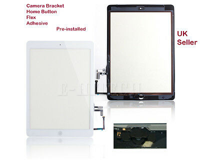 Apple iPad 5 Air 1 White Digitizer Touch Screen with Home Button, IC + tools