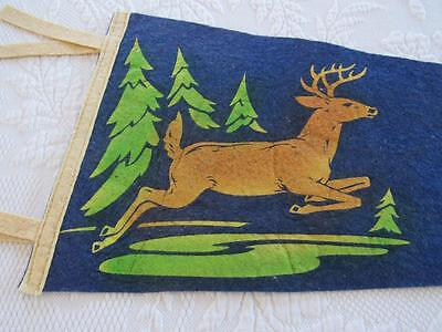 Vintage Travel Souvenir Felt Pennant FREDERIC Wisconsin Wall Hanger VERY NICE