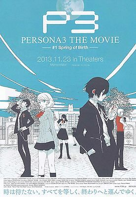 Persona 3 1 Spring of Birth Japanese Anime Chirashi Mini Ad-Flyer Poster 2013 A