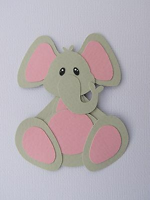 Fully assembled elephant (pink) die cut