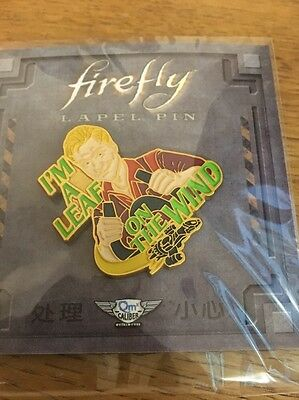 Firefly Lapel Pin - Lootcrate - I'm A Leaf On The Wind