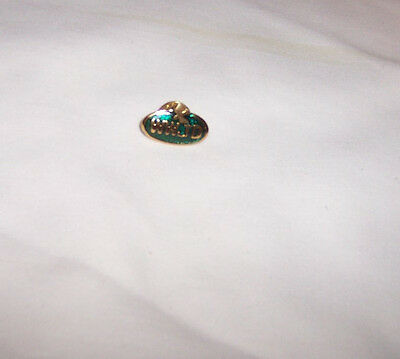 WWJD What Would Jesus Do Green Hat Lapel Pin