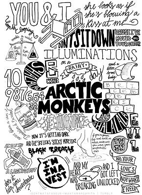 The Arctic Monkeys Suck It And See Lyrics Compilation Poster / Print