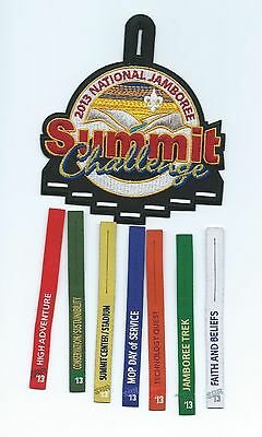 Boy Scouts 2013 Jamboree Challenge Patch with 7 Different Ribbons.