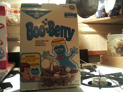 Empty Boo Berry Cereal Box