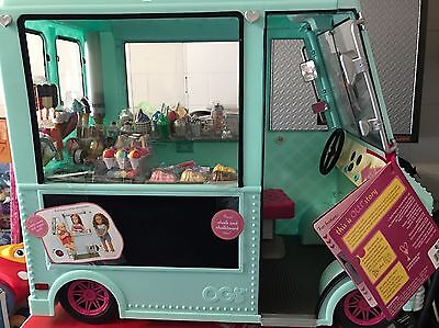 """New Our Generation Ice Cream Truck for 18"""" Dolls *Ships Fast!*"""