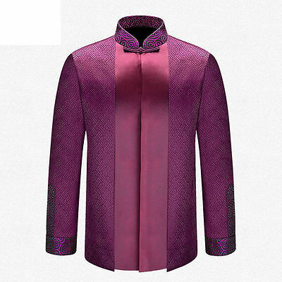 Brand New Arrival Top Grade Chinese Traditional Men's APEC Jacket Coat M-3XL
