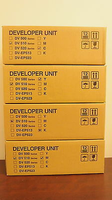 Set Kyocera DV-510 DV510 Series KMCY Developer Units DV512M DV512K DV512C DV512Y