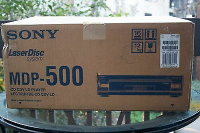 New in Box Sony MDP-500 Laser disc player w/remote