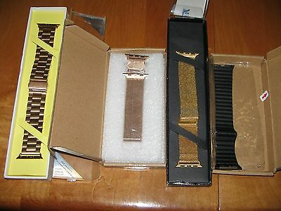 LOT of 4 NEW APPLE WATCH BANDS 1 Buckle, 3 Magnetic  All 38mm