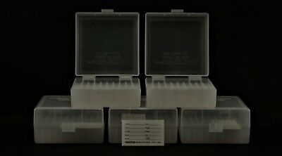Berry's Plastic Ammo Boxes (5) Clear 100 Round 223 / 5.56 - Free Shipping