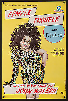 "FEMALE TROUBLE Amazing 14""x22"" poster  John Waters Divine drag Filmartgallery"