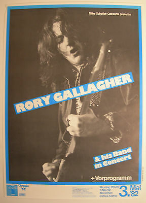 Rory Gallagher Concert Tour Poster 1982 Jinx