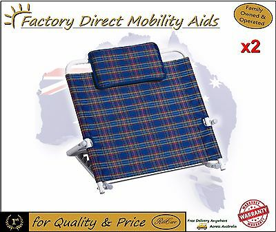 2 X Adjustable Back Rest / Backrest s One for each side of the bed!